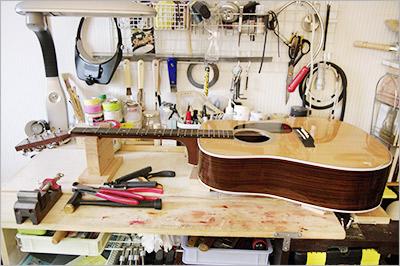 ギターのリペアー工房サウンドリバー